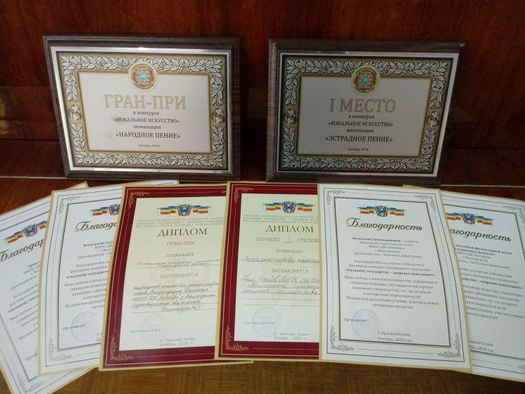 Два вокальных коллектива ДК «Октябрь» получили самые высокие награды на областном конкурсе
